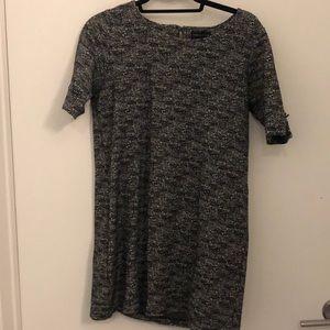 Grey - tweed look dress